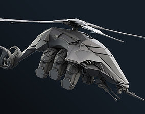 Sci-Fi Helicopter 3D model
