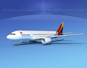 3D model Airbus A350-800 Asiana