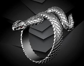 ring snake men-ring 3D printable model