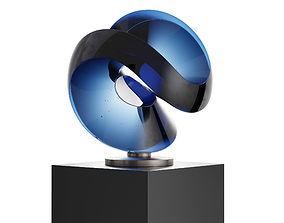 3D Aqua One Deep Blue Sculpture