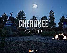 VR / AR ready Cherokee - Asset Pack - Blender - FBX - OBJ
