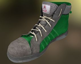 low-poly Boot 3D model lowpoly