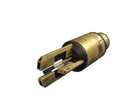 Spaceship weapone 3D asset