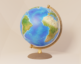 Physical political ancient abstract globe 3D asset