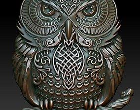 3D print model Celtic owl