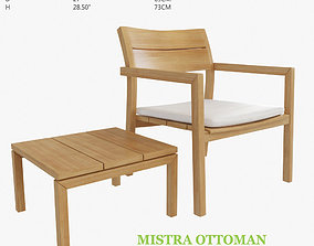 3D model Mistra Lounge Chair and Ottoman