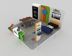 5x5 meter exhibition stand 3D model