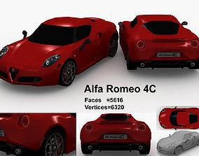 3D asset Alpha Romeo 4C sports car