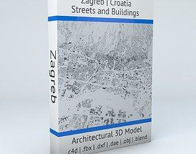 Zagreb Streets and Buildings 3D