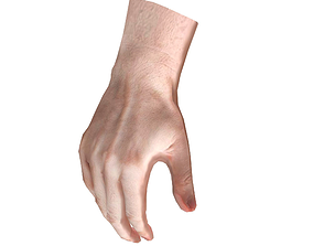 3D model Realistic Low-poly Hand Base Mesh