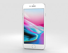 Apple iPhone 8 Plus Silver 3D 11