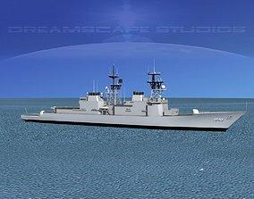 3D model Spruance Class DD990 USS Ingersoll