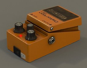 3D model Boss guitar effects pedal