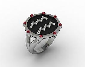 Aquarius ring 001 3D printable model