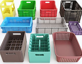 3D container Plastic crate vol 01