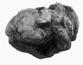 3D model low-poly Meteor Asteroid Rock 4K clash