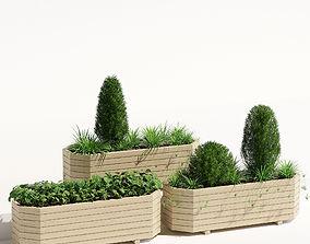 Octagonal trough planter 3D model