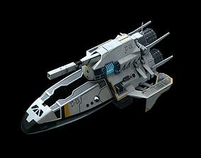 3D model PBR starship