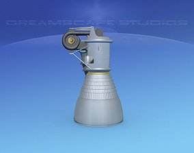 Rocketdyne H-1 Rocket Engine 3D model