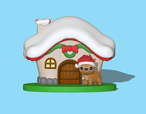 3D print model A Christmas deer house to decorate your