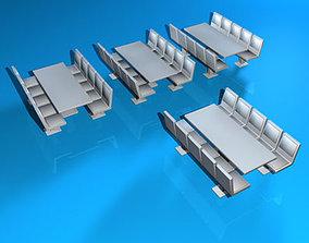 3D model Cafeteria tables