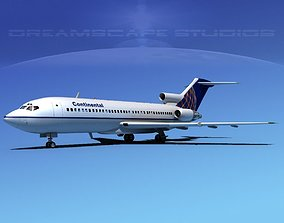 3D model Boeing 727-100 Continental 2