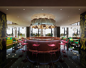 Modern coffee Restaurant 3D