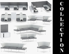9 Office Workstation Collection 3D