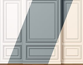 Wall molding 8 Boiserie classic panels 3D model