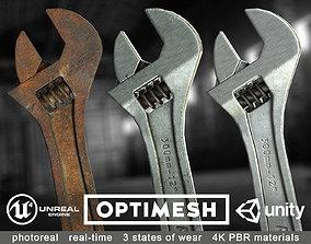 wrench Adjustable spanner - 3D PBR model VR / AR ready