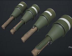 3D asset low-poly RPG-43 grenade - PBR - 4k - FPS ready