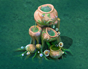Cartoon version - petrol spores 05 3D