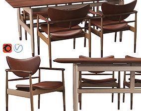 48 Chair And Kaufmann Table 3D model