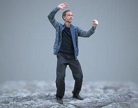 3D asset Kung Fu Master Zen Pose