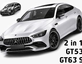 3D Mercedes-AMG GT 4-door GT53 and GT63 S