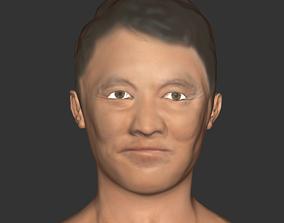 realtime Jet Li head Actor movie realistic printer 3D