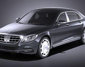 Mercedes-Benz S-Class Maybach 2016 VRAY 3D
