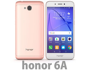 3D Huawei Honor 6A Pink