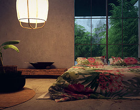 Bedroom Interior Day and Night scene 3D