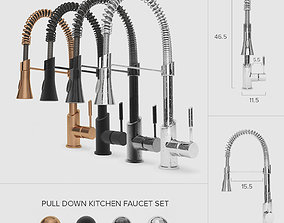Pull-Down Kitchen Faucet Set 01 3D model