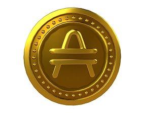 Amp Coin v4 001 3D model