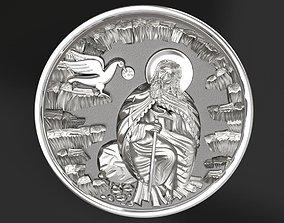 3D printable model Prophet Ilya medallion