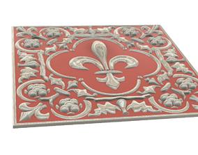 3D Relief For CNC building decor roman abundance