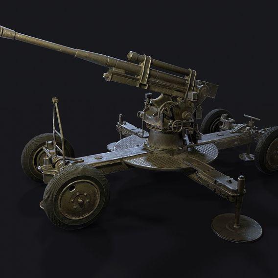85-MM ANTI-AIRCRAFT GUN 52-K