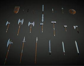 3D asset UKit Medieval Fantasy Weapons
