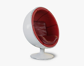 Retro 60s Ball Globe Chair 3D asset