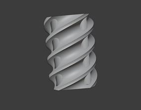 Pen holder with spiral detail 3D printable model