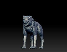 3D print model wolf animal