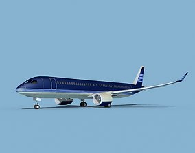 3D Airbus A220-300 Corporate 4