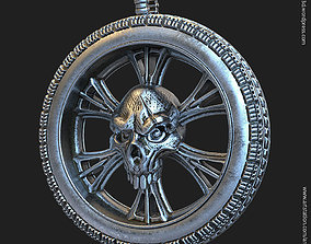 3D printable model Biker Skull vol10 pendant